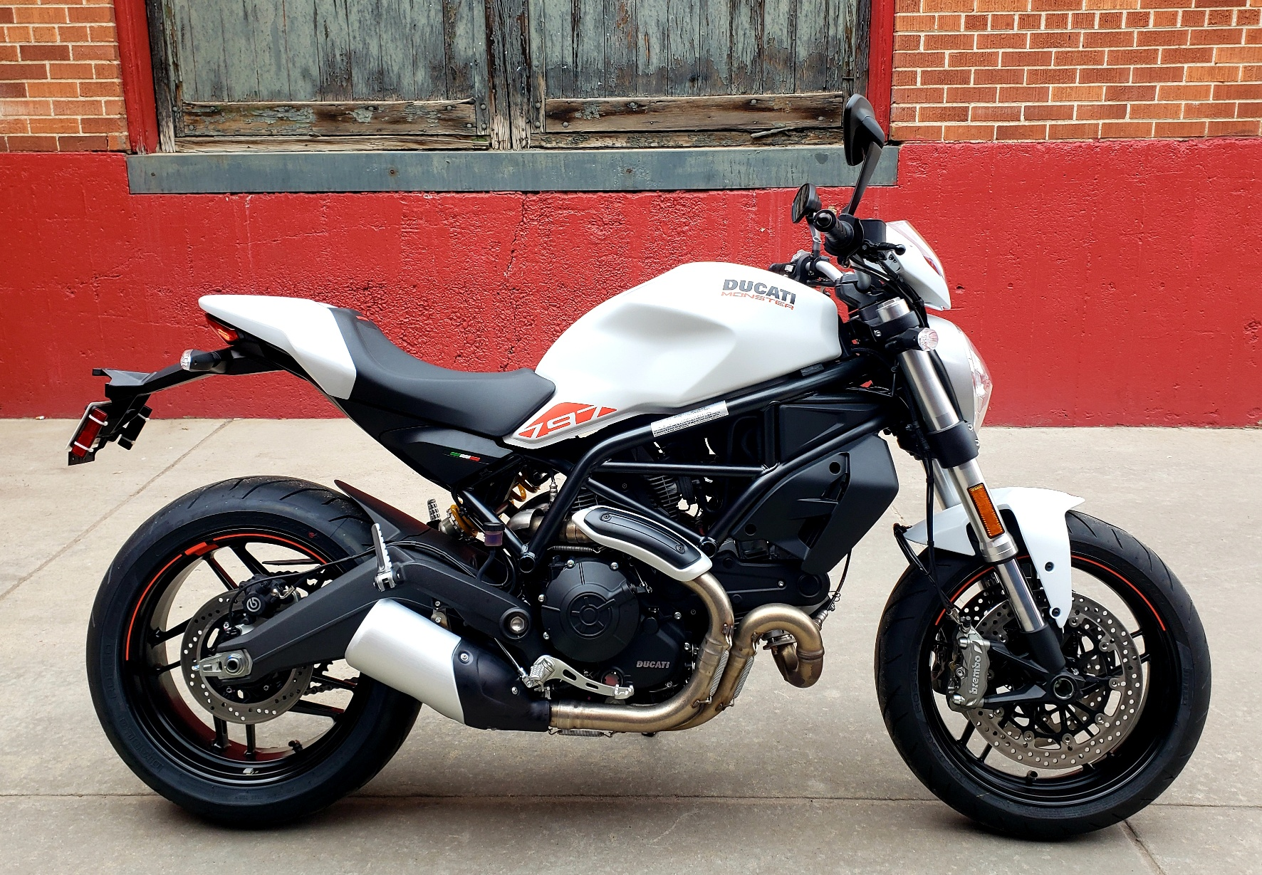 New 2019 DUCATI MONSTER 797+ WHITE