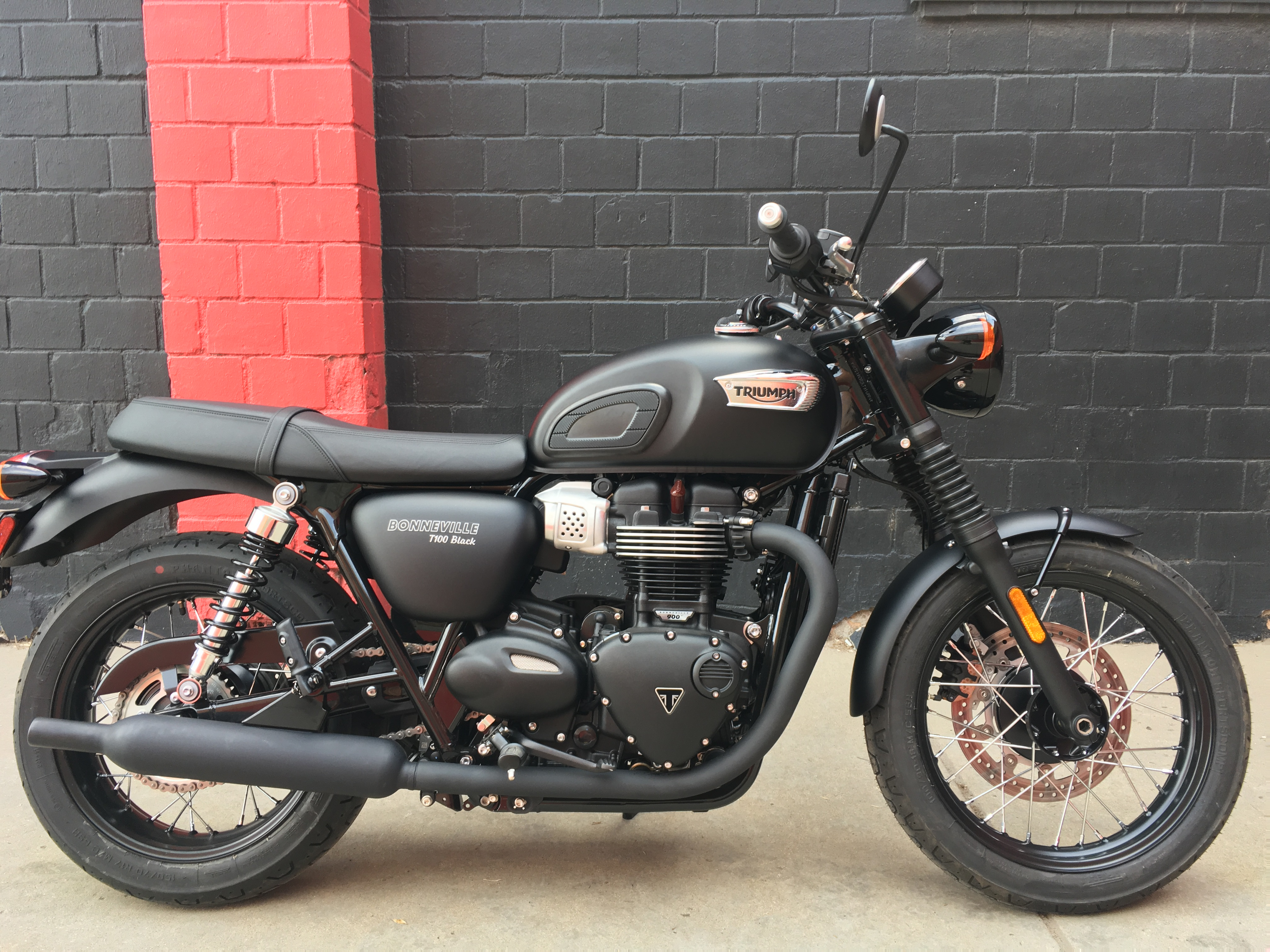 New 2019 TRIUMPH BONNEVILLE T100 MATTE BLACK